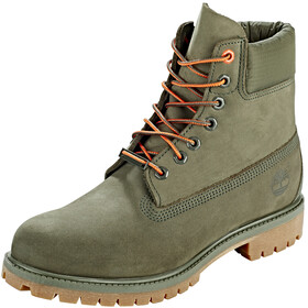 "Timberland Icon Collection Premium Boots Men 6"" Dark Green Nubuck"